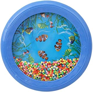 Ocean Wave Bead Drum Ocean Wave Fish y Small Bead Gentle Sea Sound Sonajero Herramienta Musical para bebé niño Niño Útil y Duradero