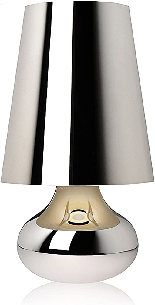 Kartell cindy, lampada da tavolo, platino 9100/M1