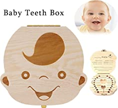 Baby Tooth Box, Wooden Kids Tooth Box,Baby Save Boxes Keepsake for Children,Cute Personality Baby Teeth Box (Boy)
