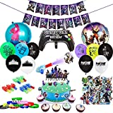 Birthday Party Supplies for Game Fans, 110pcs Gaming Theme Party...