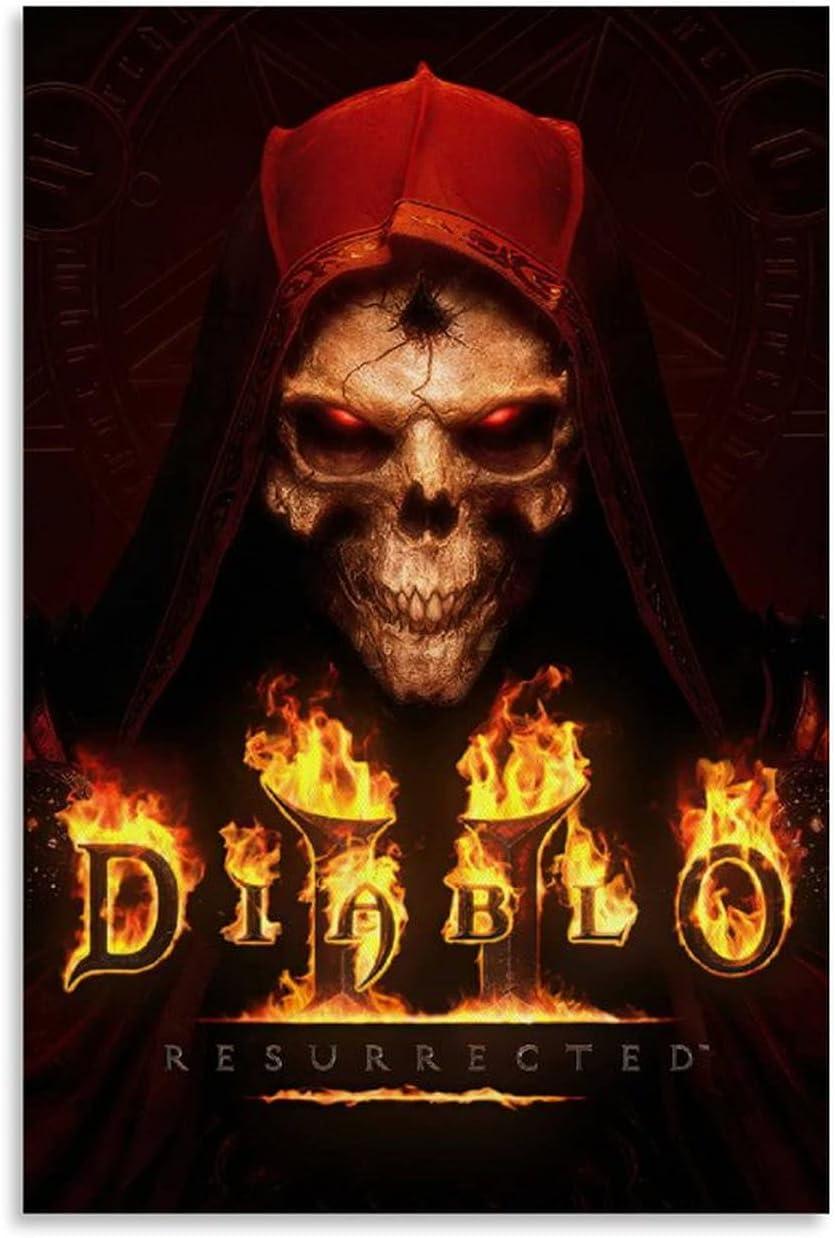 JIXIANG Diablo II Resurrected Art お買い得 Can Poster Painting 祝日 Decorative