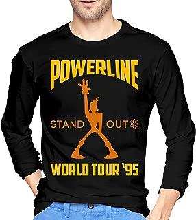 Ginuancu Powerline Concert Tee Men's Leisure Long Sleeve T-Shirts