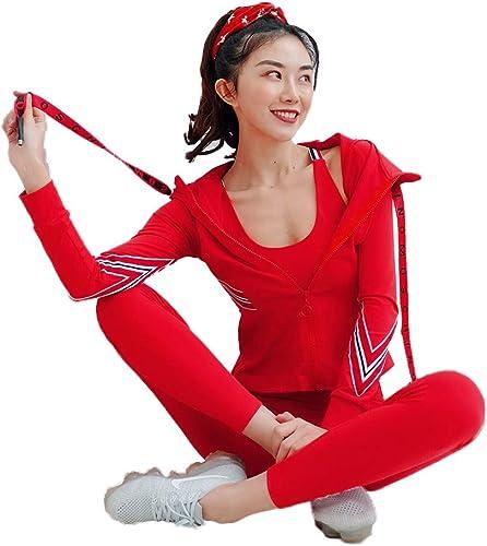 Fitness Yoga Suit femmes, vêteHommests de Sport décontractés pour Jogging,Sweat à Capuche Sport Soucravaten-Gorge Dorsal beauté Pantalon de Yoga sans Couture Taille Haute Ensemble de 3 pièces