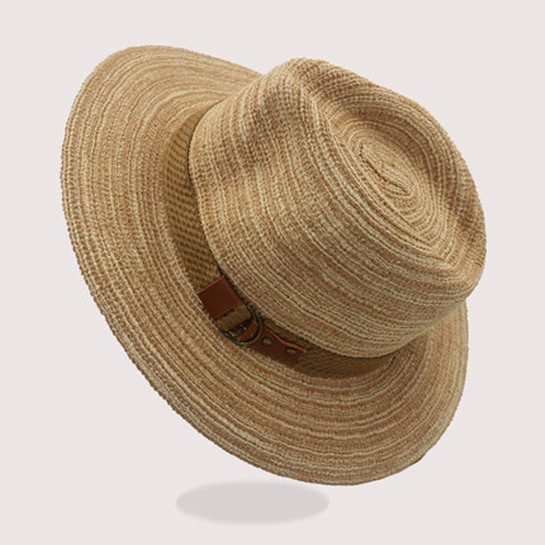 AINIYF 男性用パナマ帽子、夏のビーチ - Fedora、調節可能な日光浴用帽子、屋外キャンプ1229 (色 : D)