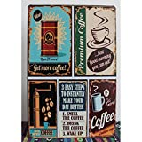 WINOMO retrò Targhe in Metallo Stile Vintage Ornamento della Parete caffè Bar Arredamento 12'* 8'