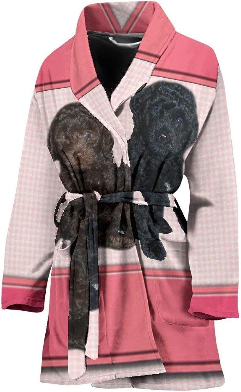 Barbet Dog Print Women's Bath Robe