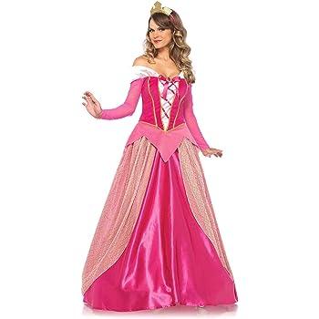 Leg Avenue-Pink Princess Aurora Fancy Dress Costume (Medium/UK 10 ...