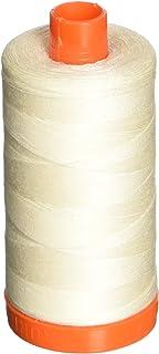 Aurifil A1050-2026 Mako Cotton Thread Solid 50WT 1422Yds Chalk