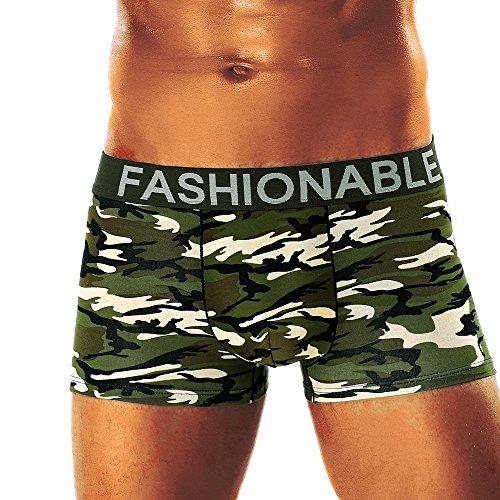 Herren Boxershorts Camouflage Soft Briefs Unterhose Knickers Shorts Sexy Unterwäsche 95% Baumwolle