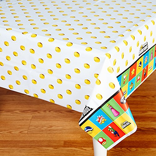 Mario Brothers Birthday Party Favors - Table Cover Tablecover Cloth