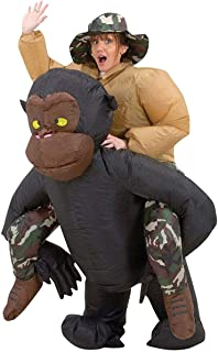 Inflatable Riding Gorilla Cost Costume