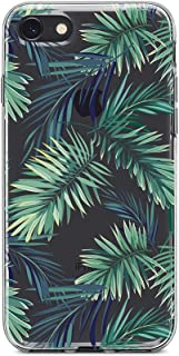 Obbii Clear Case for iPhone 8/7/6S/6 (4.7 inch) Obbii Unique Palm Tree Leaves Design Hard Shell Solid PC Back+ Soft TPU Bumper Protective Case Compatible with iPhone 8/7/6S/6