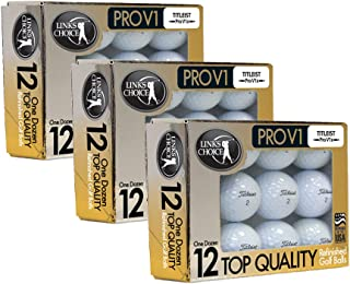 Titleist 36 ProV1x 2017 AAAAA Mint Refinished Used Golf Balls Gold Foil Pack
