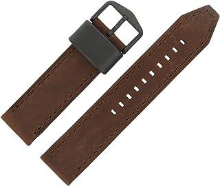 Bracelet montre fossile 22 mm en cuir marron - Bracelet de montre FS-4656
