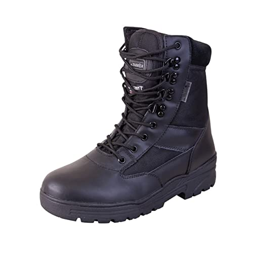 e36ec987a33 Mens Combat Military Black Army Patrol Hiking Cadet Work High Leather Boot  UK 3-13
