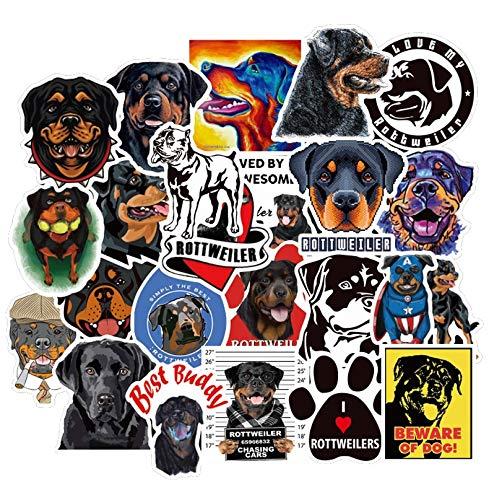 Blour Dierstickers voor honden, Rottweiler om te knutselen, motorfietshelm, gitaar, laptop, rolplank, koffer, cool zelfklevend, 50 stuks