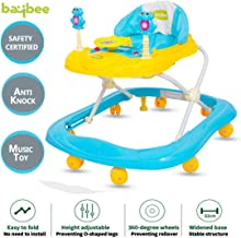 Baybee Smartwitty Baby Walker Round Kids Walker for Babies Cycle with Adjustable Height and Musical Toy Bar Rattles and Toys Ultra Soft Seat-Activity Walker for Kid and Wheel 6 Months to 2 Years