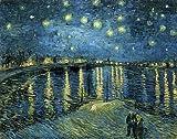 Wieco Art - Sternennacht über der Rhone von Van Gogh,