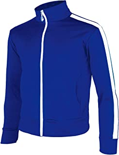 myglory77mall Men's Running Jogging Track Suit Warm up Jacket Gym Training Wear