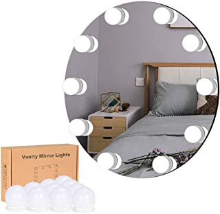 [Updated] LiveComfort Vanity Lights, Hollywood Style Vanity Mirror Lights w/10 Dimmable LED Bulbs, 10 Brightness Modes, 3 Light Colors and USB Port, Mirror NOT Included, Updated Premium 3M Sticker