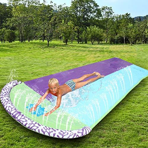 Lgan Tobogan Infantil Exterior Agua,Doble 4.8m Tobogan para Piscina Verano Juguetes Jardin Agua Barriga Tobogan para Piscina Inchable