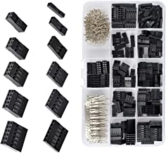 QLOUNI 620Pcs 2.54mm Pitch JST SM 1 2 3 4 5 6 Pin Housing Connector Dupont Male Female Crimp Pins Adaptor Assortment Kit