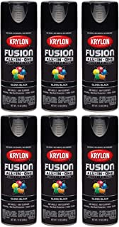 Krylon All-in-One Fusion Gloss Black Spray Paint (6 Pack)
