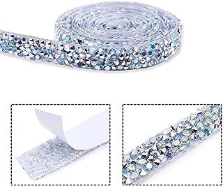 Yusat Diamantlint, zelfklevende kristallen lint strass stickers voor bruiloft verjaardag decoraties DIY decoratieve krista...