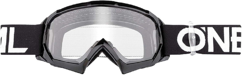 O Neal Motocross Brillen Ersatzteile Motorrad Enduro Modernes Rahmendesign Glas Aus Hochwertiger 1 2 Mm 3d Linse 100 Uv Schutz B10 Youth Goggle Solid Schwarz Weiß One Size Sport Freizeit