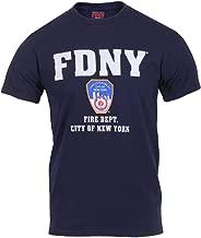 Navy Blue FDNY Fire Department City of New York T-Shirt