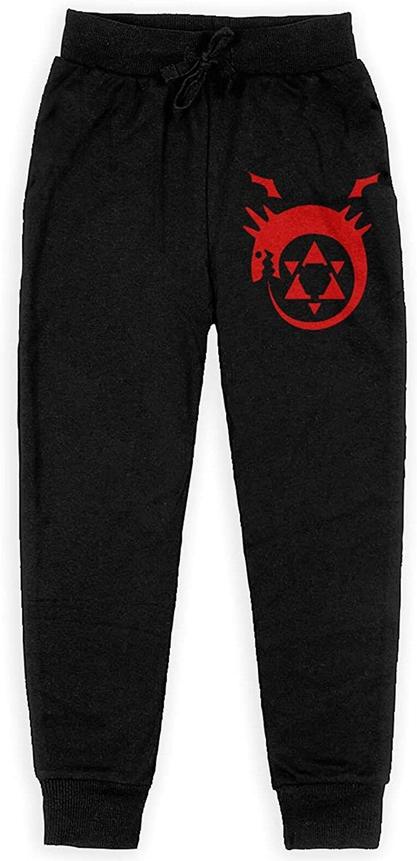 Fullmetal Alchemist Sweatpants Youth Sport Slacks Athletic Cool Pants for Boys Girls