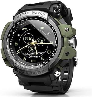 WXG1 Reloj De Los Hombres De Smart Deportes, Reloj Inteligente Impermeable Militar Multifunción con Recordatorio Podómetro Bluetooth Tono, Al Aire Libre Pulsera De Rastreador De Ejercicios,Verde