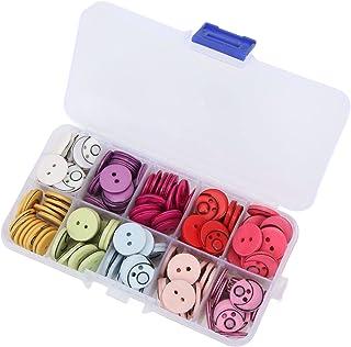 Botões decorativos, botões de resina ecologicamente corretos com caixa de armazenamento para roupas infantis para artesanato