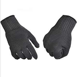 Bleiou Safety Cut Proof Protect Glove 46% Stainless Steel Mesh Camp Gloves for Outdoor sports Camping Climbing for Hiking