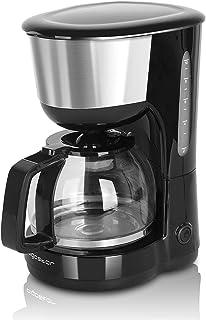 Aigostar Chocolate 30HIK – Cafetière à filtre, 1000 watts, capacité de 1,25 litres, sans BPA, filtre permanent lavable et ...
