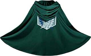 Attack on Titan Japanese Anime Shingeki no Kyojin Cloak Cape Clothes Cosplay Green