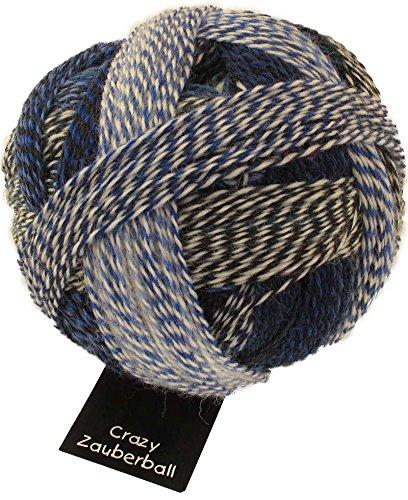 Schoppel Wolle Zauberball Crazy Fb. 2099 Pause in Blau, Bunte Sockenwolle mit Farbverlauf zum Stricken oder Häkeln