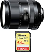 Tamron 28-300mm F/3.5-6.3 Di VC PZD Lens for Nikon (FX) DSLR Cameras AFA010N-700 and 64GB Card Bundle - Includes Lens and Memory Card