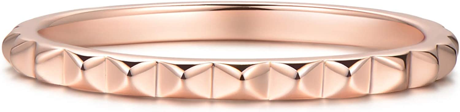 BLOSSOM New product HUE Stacking Pyramid Max 89% OFF Ring Teens Women Girls 18K for