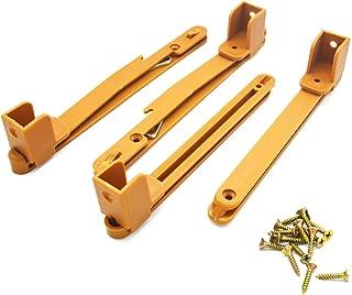 SpzcdZa Crib Fence Lifter Lifting Rail Connection Set Brown w Screws
