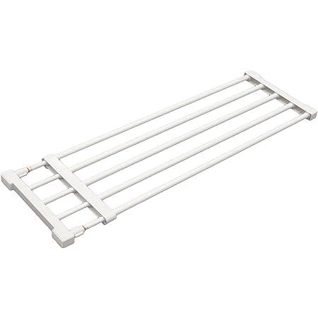 平安伸銅工業 つっぱり棚 ホワイト 取付寸法75~120cm 耐荷重:25-10kg KB-75