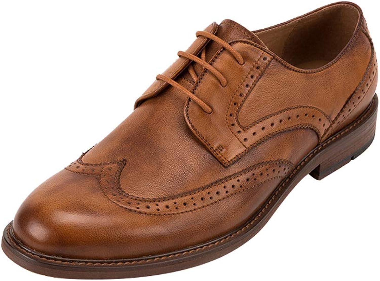 fa50ba0ed Men's shoes Leather British Business shoes Oxford Lace-Up Luxury Luxury  Luxury Italian Leather Wedding Office shoes 18cb6b