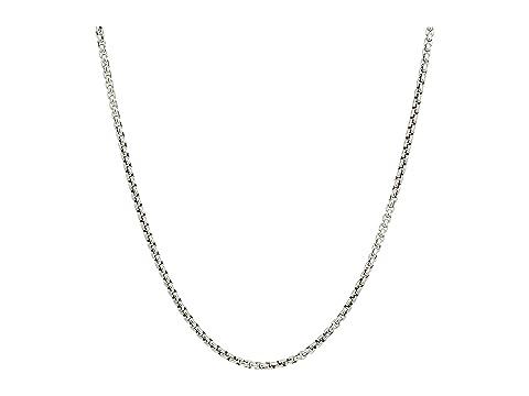 John Hardy 2.6mm Box Chain Necklace Size 22