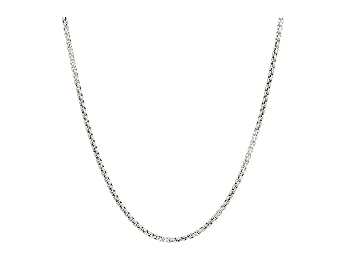John Hardy  2.6mm Box Chain Necklace Size 22 (Silver) Necklace