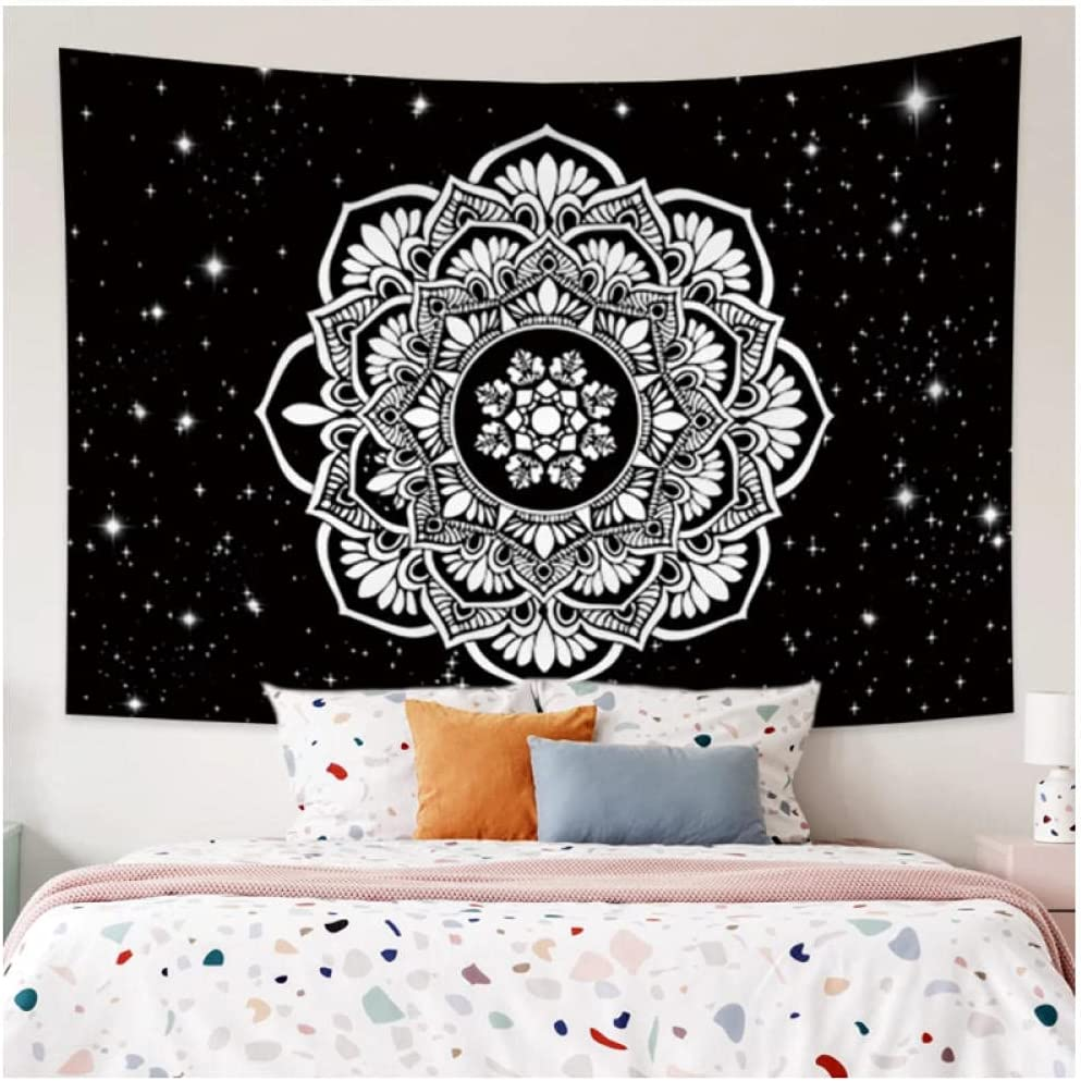 Tapestry by Popularity FDCYFFS Black And Branded goods Mandala Decorative Lace Wall White
