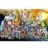 N / A LTMarvel 300/520/1000 Pc Anime Jigsaw Puzzle para Niños Adultos, Dragon Ball Super Saiyan Super Vegeta Juego De Rompecabezas Grande Juguetes Regalo(Size:1000pc)