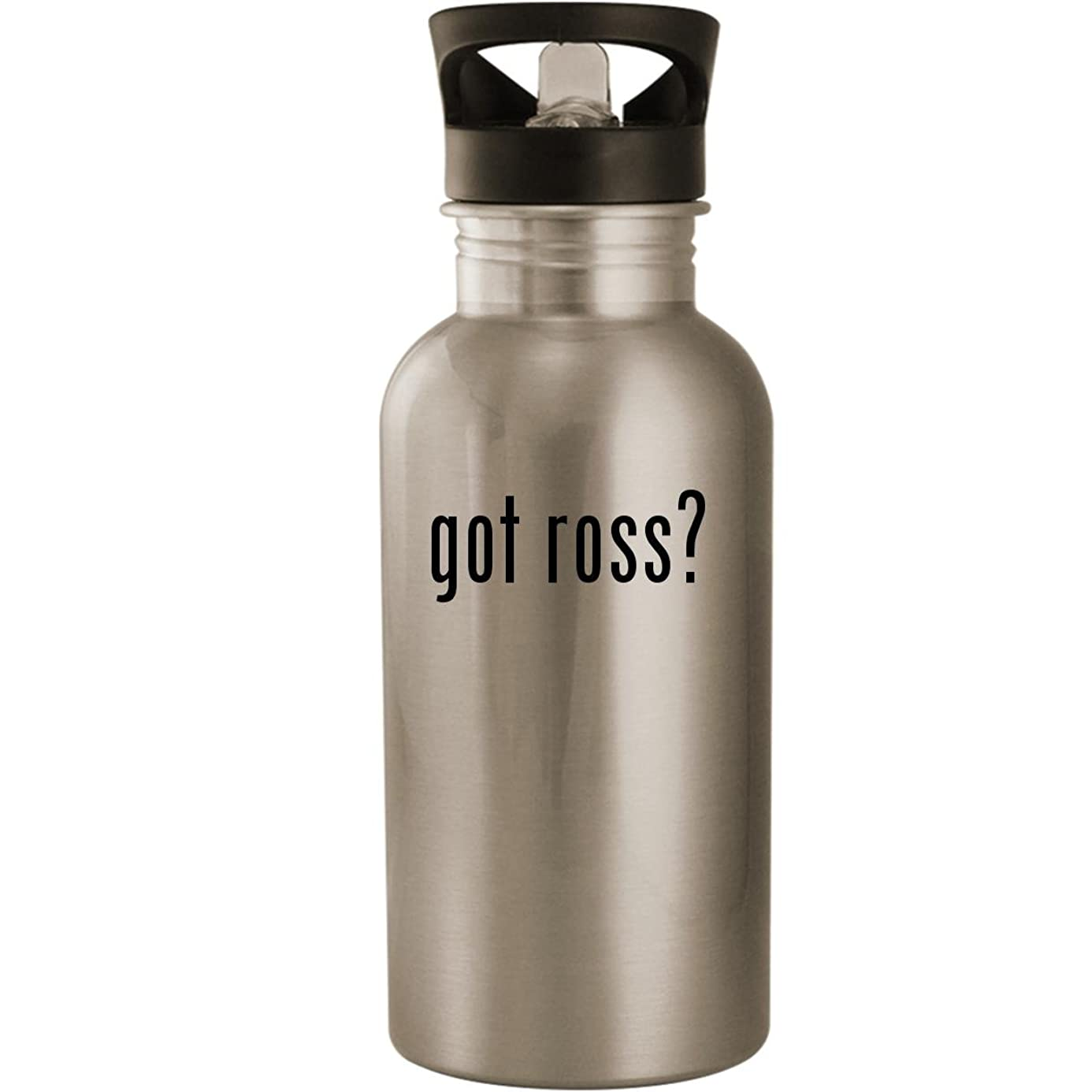 got ross? - Stainless Steel 20oz Road Ready Water Bottle, Silver