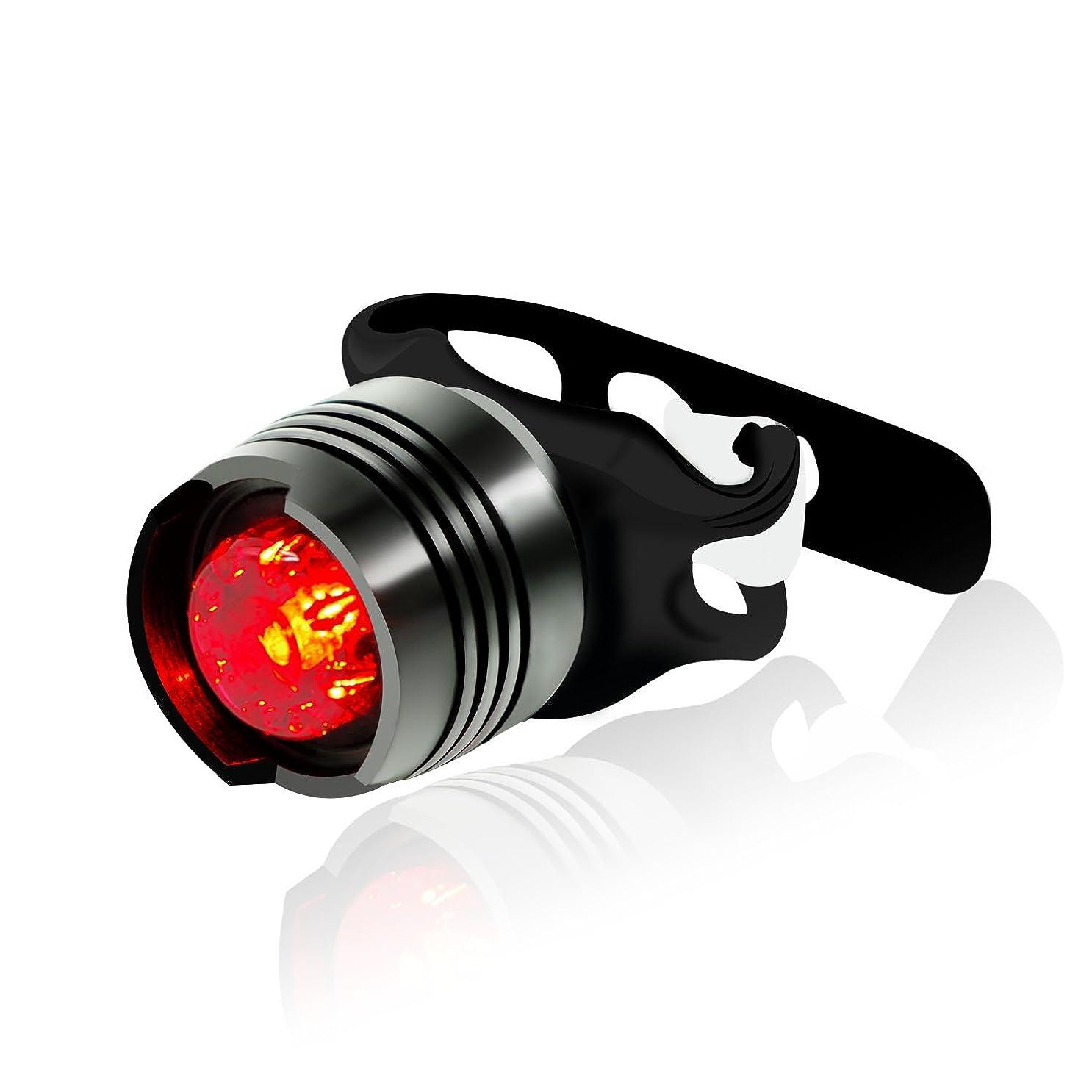 品ラフアベニューYATDA テールライト 自転車用 尾灯 アルミ合金製 LED 電池式 防水 高輝度 3点灯モード 夜間走行 リアライト 小型