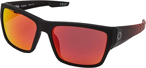 Matte Black Red Burst/HD Plus Rose Polarized