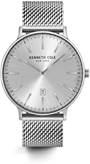 Kenneth Cole New York Male Analog quartz Stainless steel Black/Silver Mesh Stainless Steel Bracelet Watch (Model: KC15057009/12)